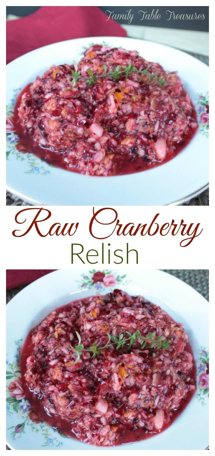 Raw Cranberry Orange Relish