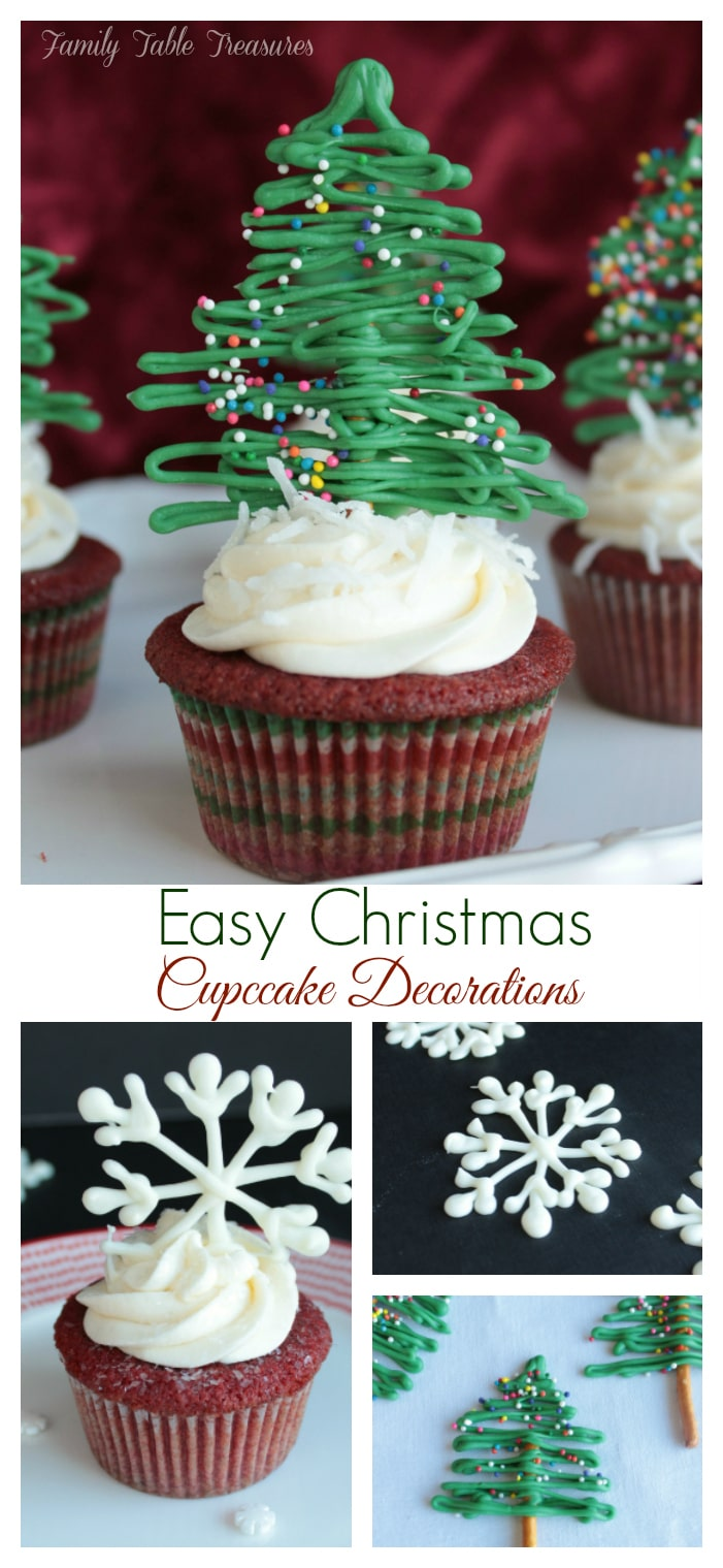 Easy Christmas Cupcake Decorations Family Table Treasures