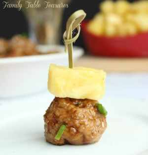 Hawaiian Teriyaki Meatballs