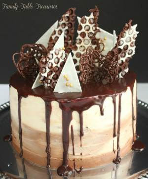 Spiked Chocolate Mudslide Cake