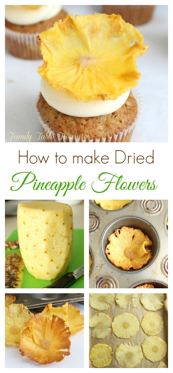 How to make Dried Pineapple Flowers