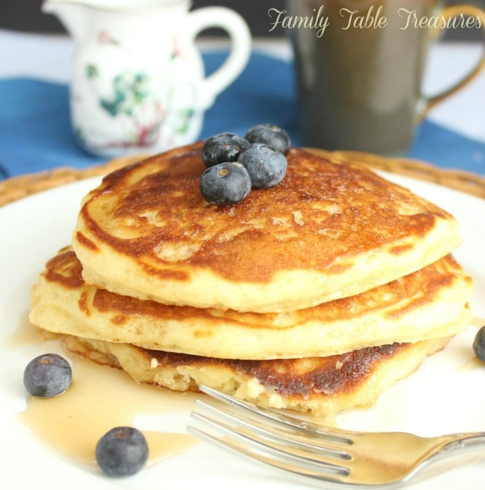 Easy fluffy pancake recipe from scratch family table treasures easy fluffy pancake recipe ccuart Image collections