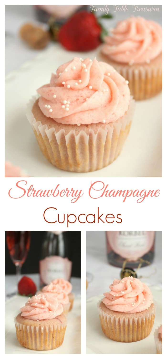 Strawberry Champagne Cupcakes