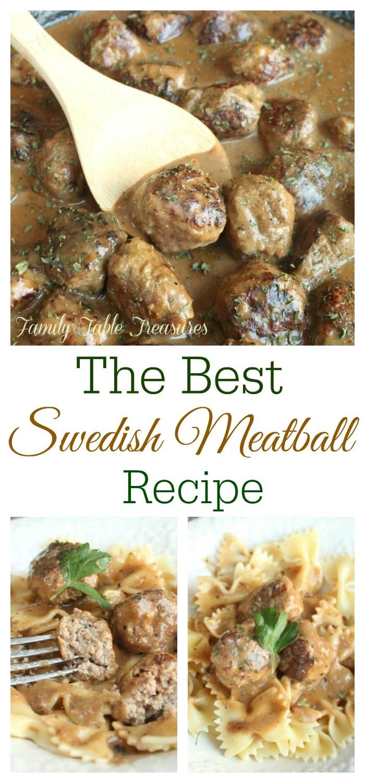 Best Swedish Meatball Recipe