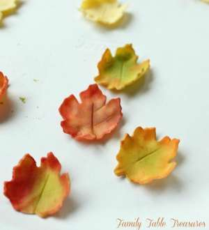 Autumn Gumpaste Leaves