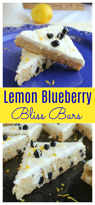 Lemon Blueberry Bliss Bars