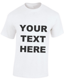 mens tshirt customprint white text