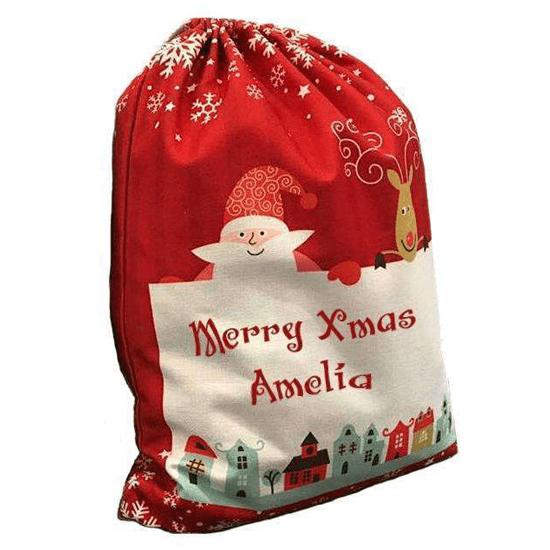Custom Printed Santa Sack Red