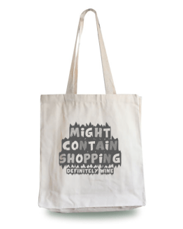 Might Contain Wine Tote Bag