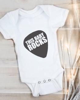 This baby Rocks Babygrow