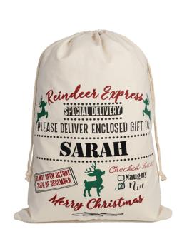 Reindeer Express Overnight Santa Sack