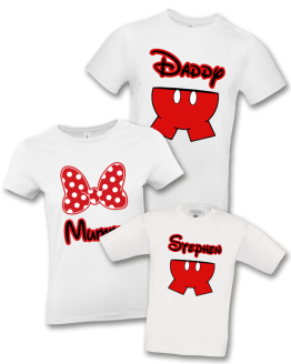 Disney Family Holiday Shorts & Bows T Shirt