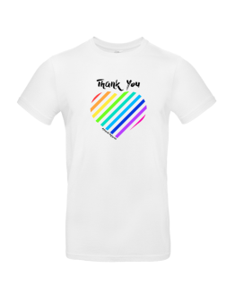 Thank You Rainbow Heart T Shirt