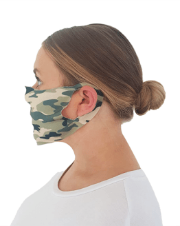 Camouflage Print Face Covering