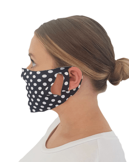 Polkadot Print Face Covering