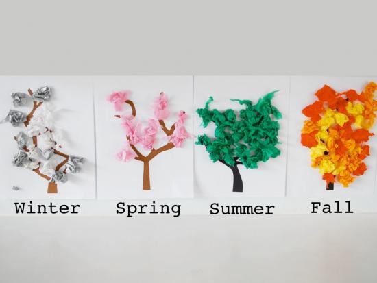 DIY Four Seasons Trees - Family Time Magazine