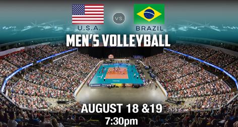 USAV Cup: U.S. Men vs. Brazil