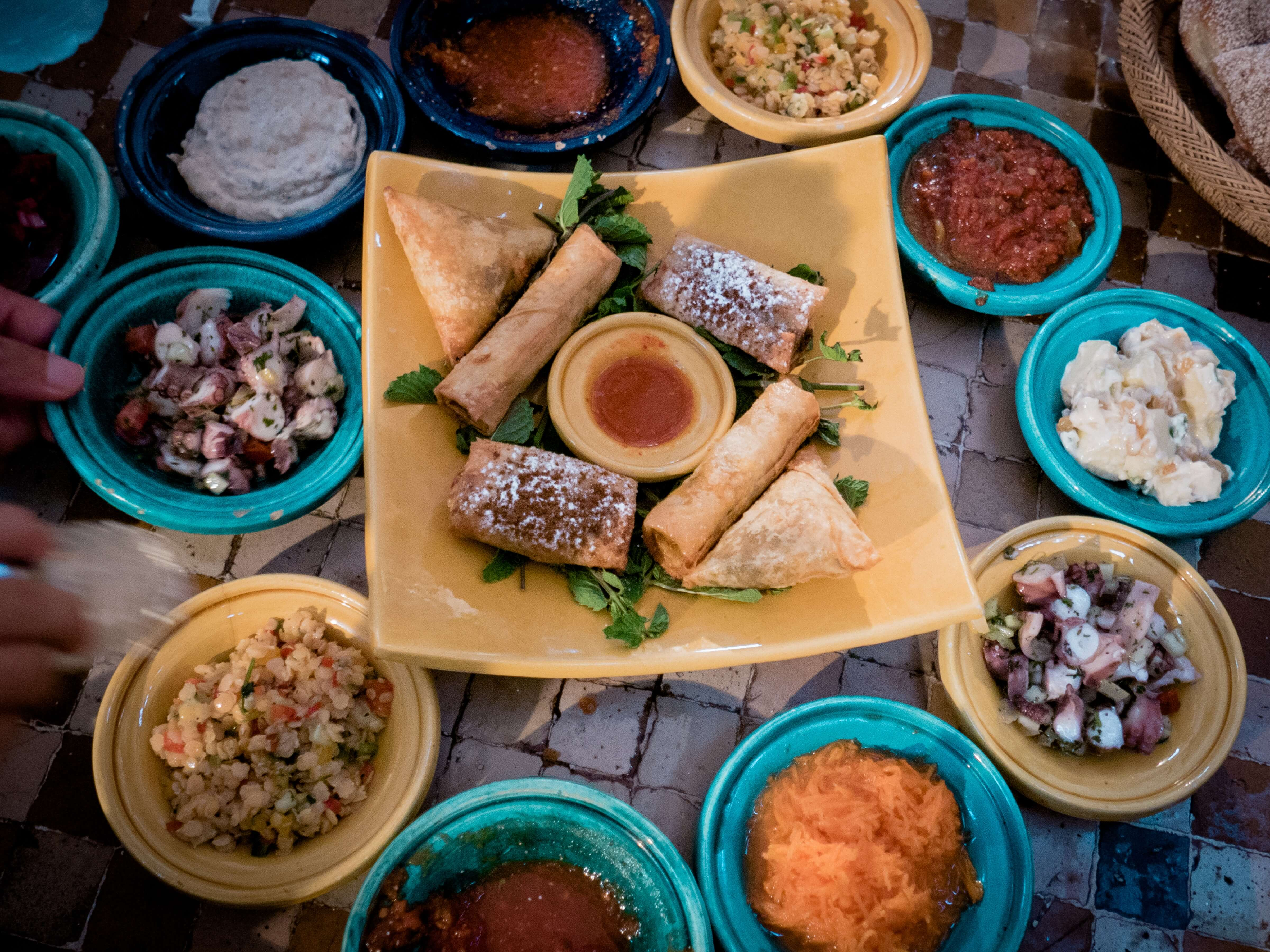 Arabic mezze - safety tips with food and kids in the Middle East