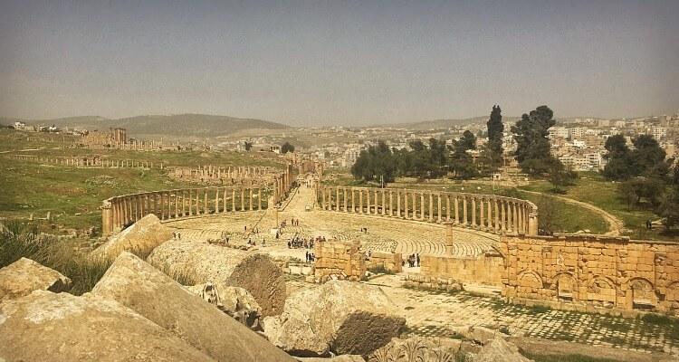 Jersah ancient ROman city in Jordan