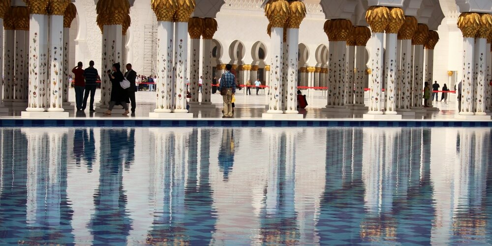 Relective waters Shiekh Zayed Grand Mosque