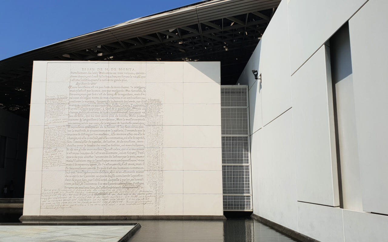 External art works at the Louvre Abu Dhabi