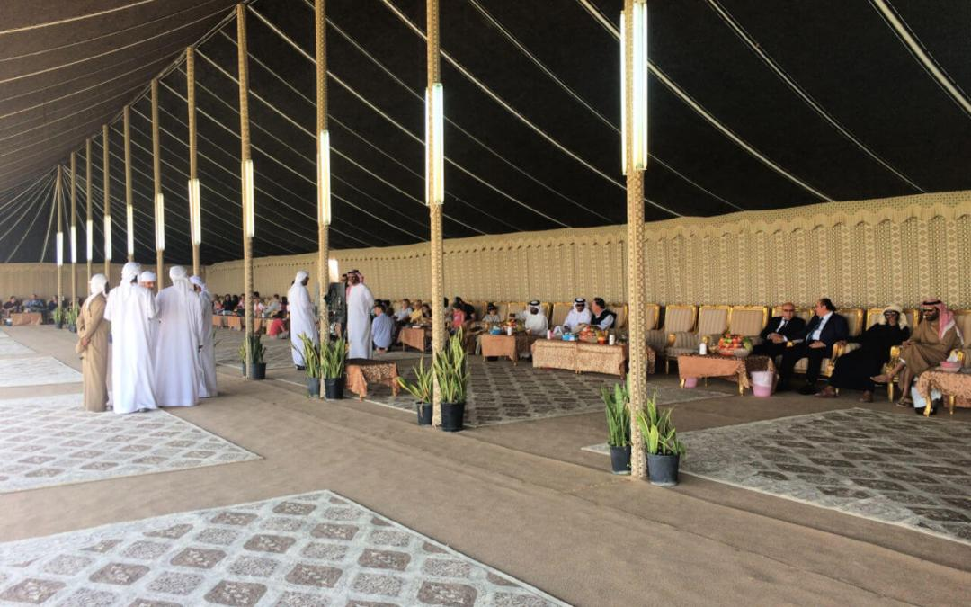 Food Hall for guests at the Al Dhafra Festival
