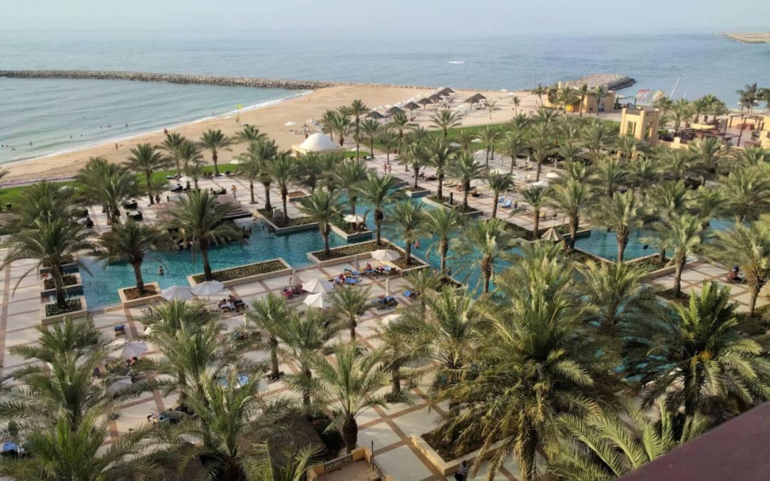 Hilton Ras Al Khaimah view of the pools