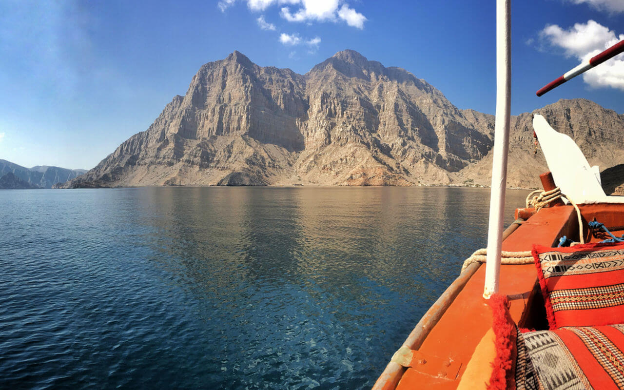 The beautiful Musandam Peninsular in Oman