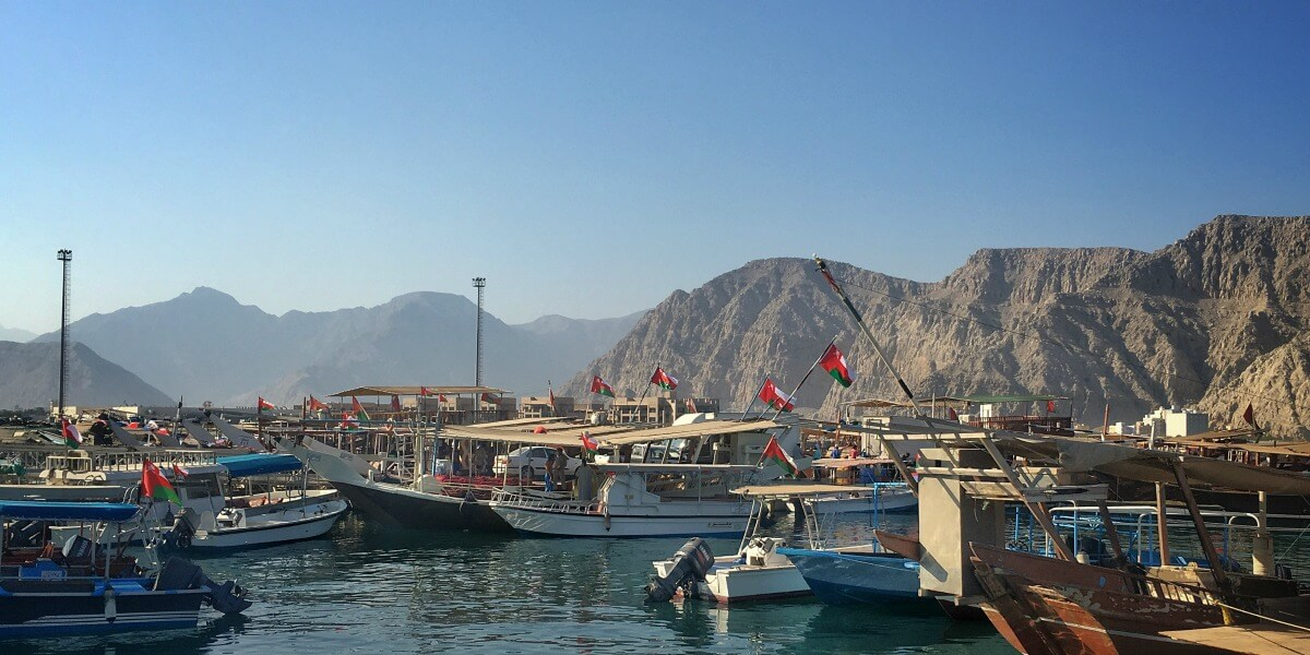 The harbour in Khasab, Musandam Oman a great road trip from Dubai