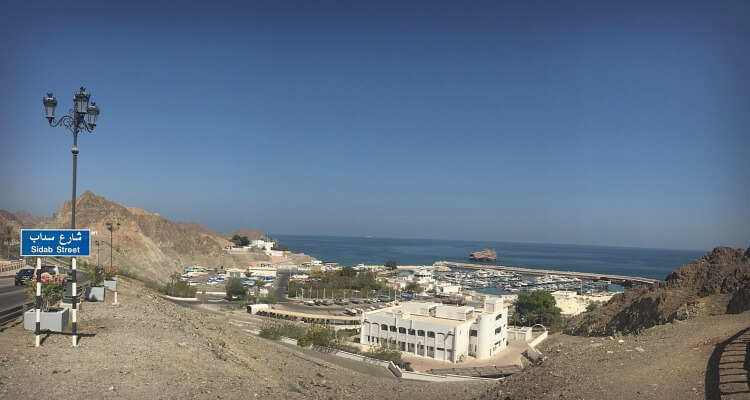 Beautiful views over the harbour in Muscat