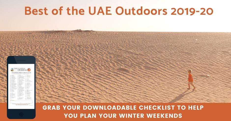 UAE Winter Weekends Checklist