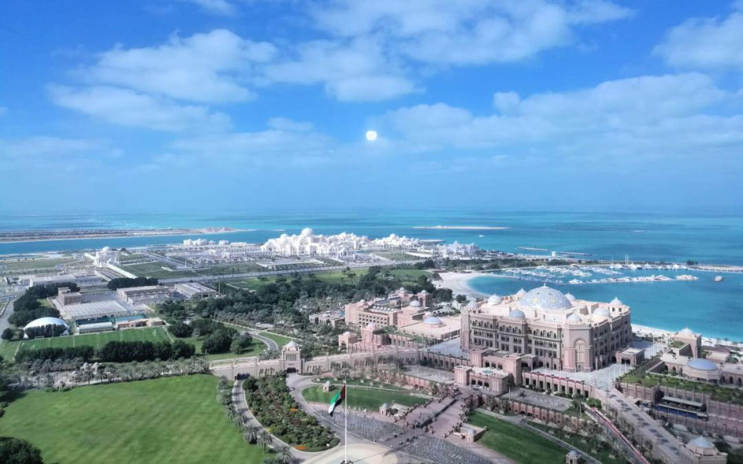 aeriel view of Qasr al Watan the new presidential palace complex in Abu Dhabi