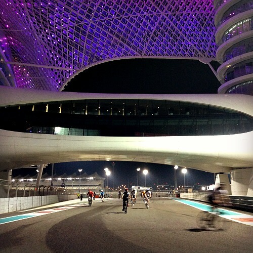 Yas Marina open circuit nights on the Grnad Prix track