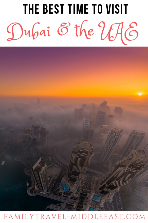 Dubai sunrise in the fog - Best time to Visit Dubai