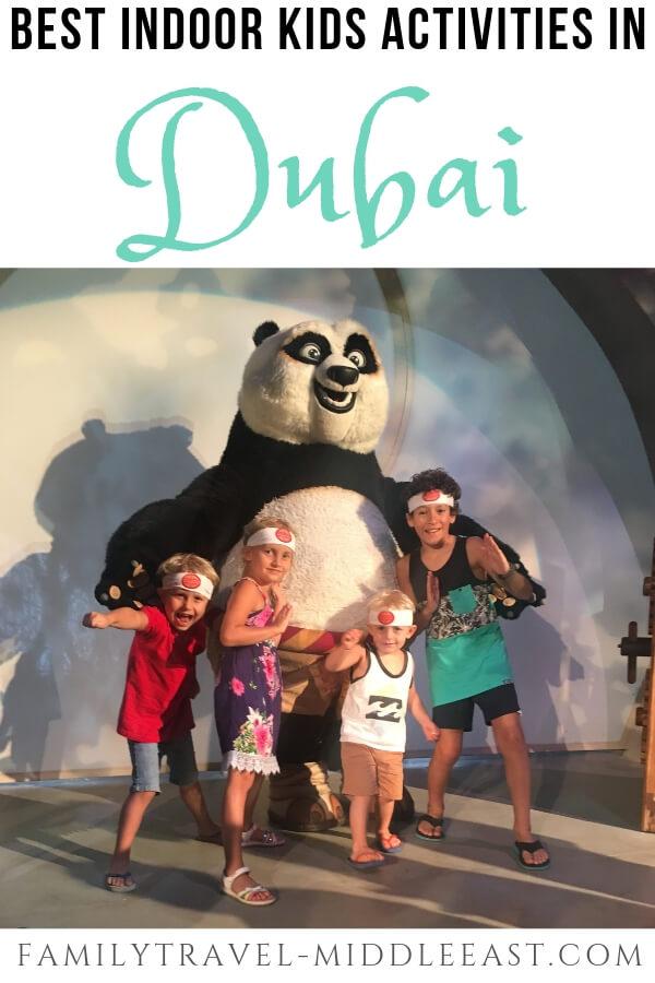 Kids with Kung Fu Panda at Motiongate Dubai