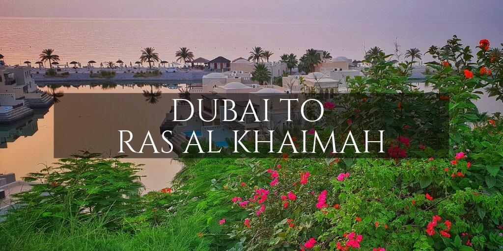 A beauitful Dubai beach resort text Dubai to Ras al Khaimah