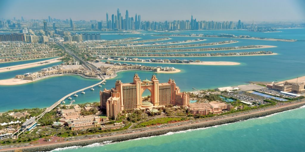 Atlantis the Palm and many luxury resorts on the Palm