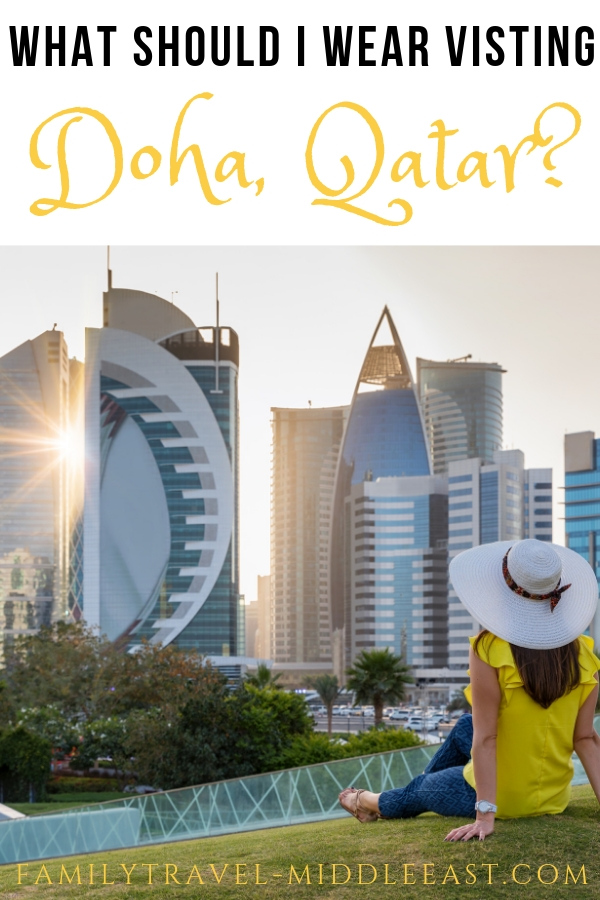 Lady in front of Doha Sline - what to wear in Doha, Qatar