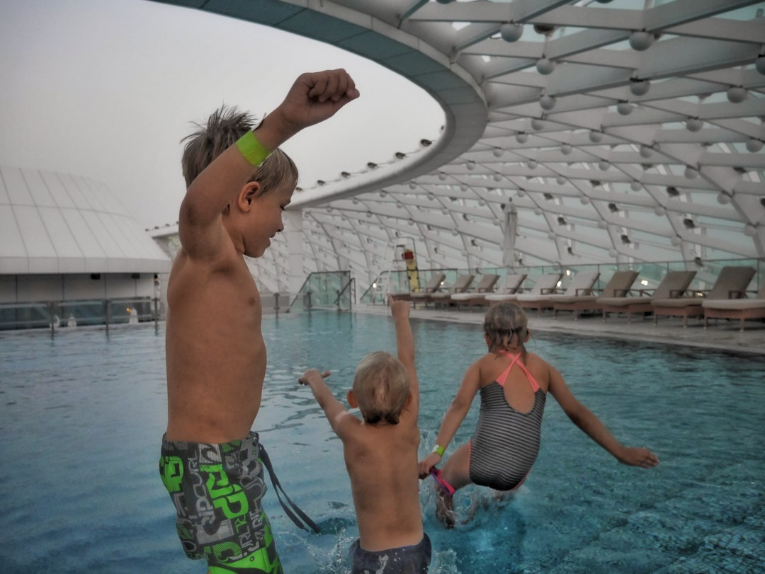 Swimming Pool on the Yas Hotel Roof top