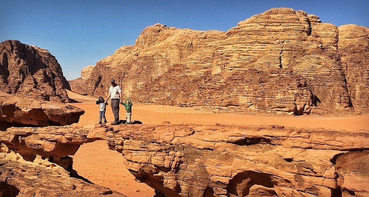Wadi Rum natural bridge