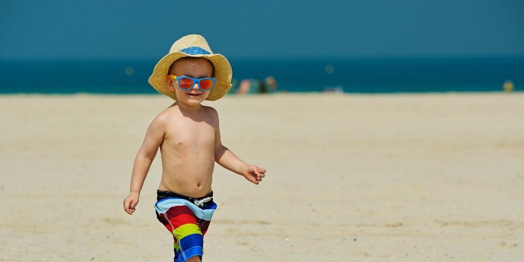 Dubai child on beach