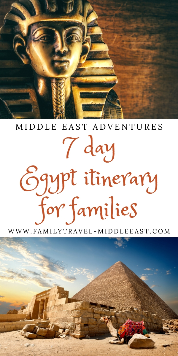 How to plan a 7 day family vacation to Egypt.  Understand the best cultural and historic higglights to see, how to get between them and what you may need to miss if you only have one week to ecplore this amazing country.