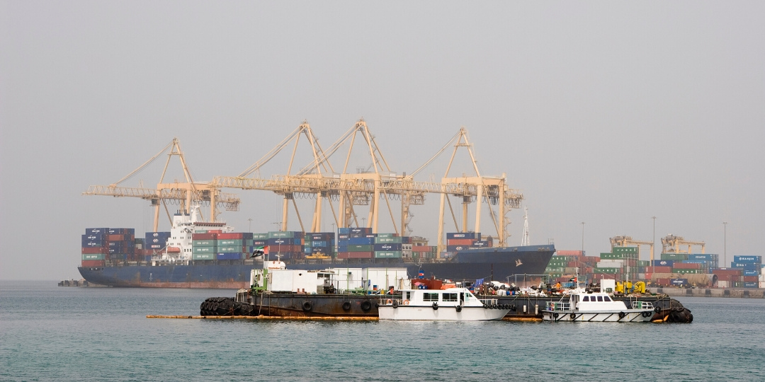 Khor Fakkan Port is also a busy industrial port on the UAE's East Coast
