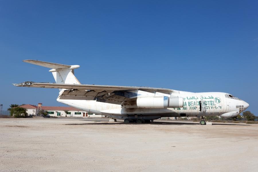 abandoned Ilyushin IL 76 Plane