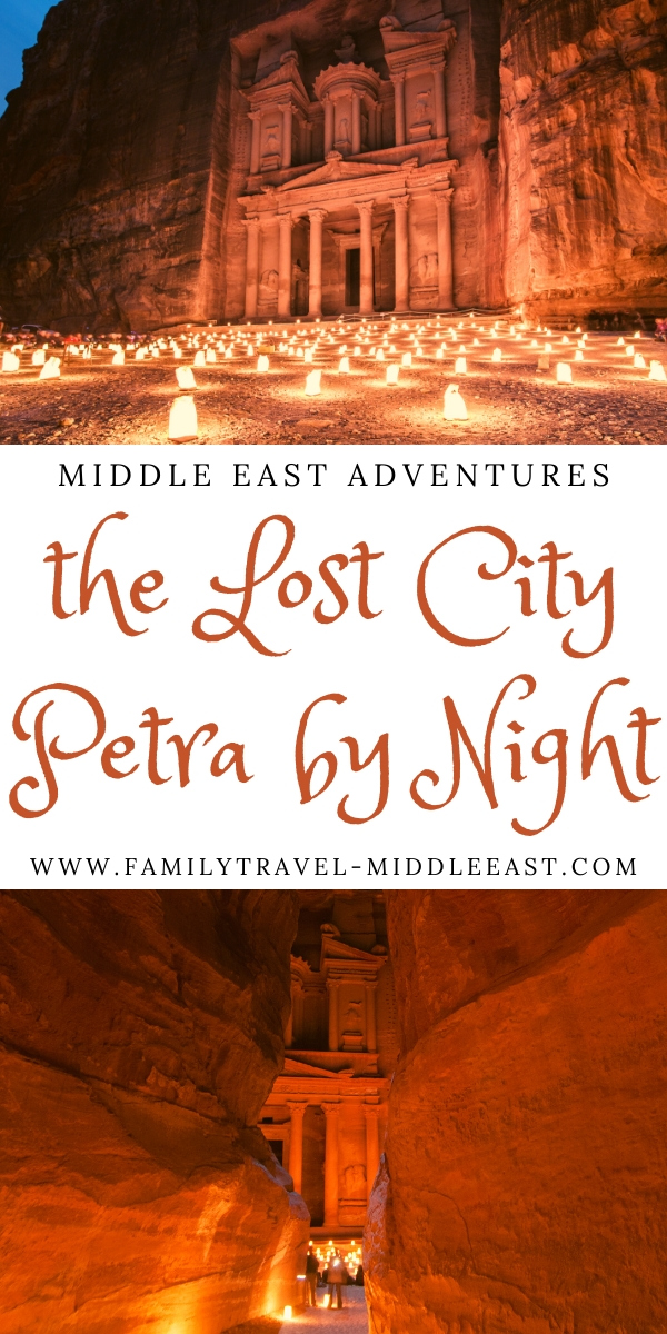 The lost City of Petra at Night