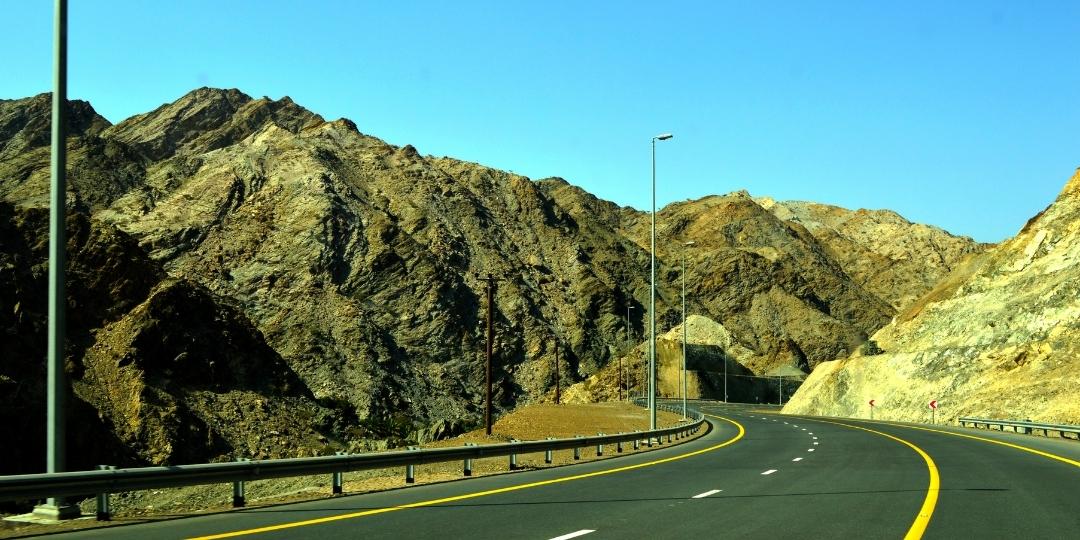 Dubai to Kalba road
