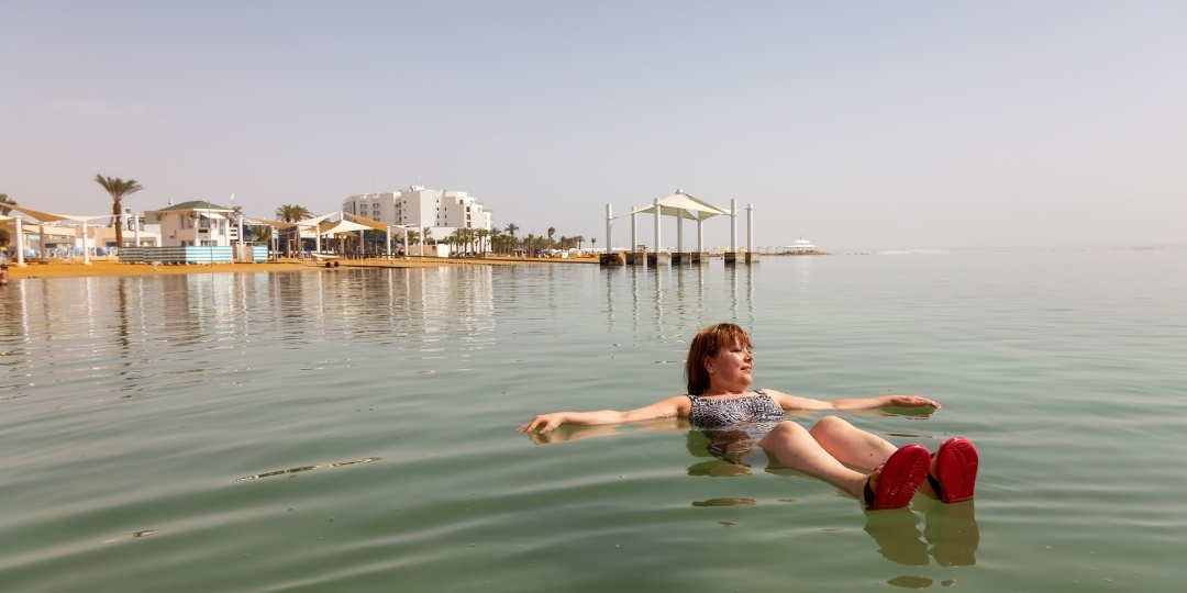 Flaoting in the Dead Sea Israel