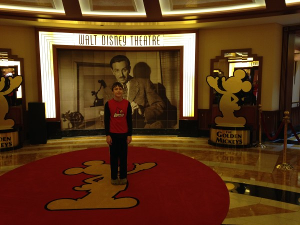 Outside Walt Disney Theater on disney dream