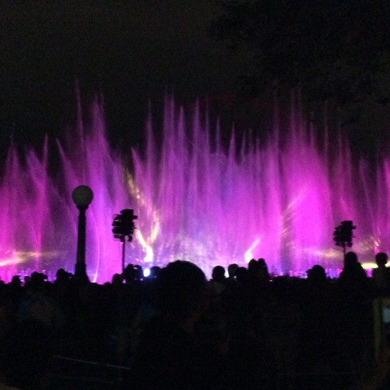 """beautiful light show at Disneyland"""