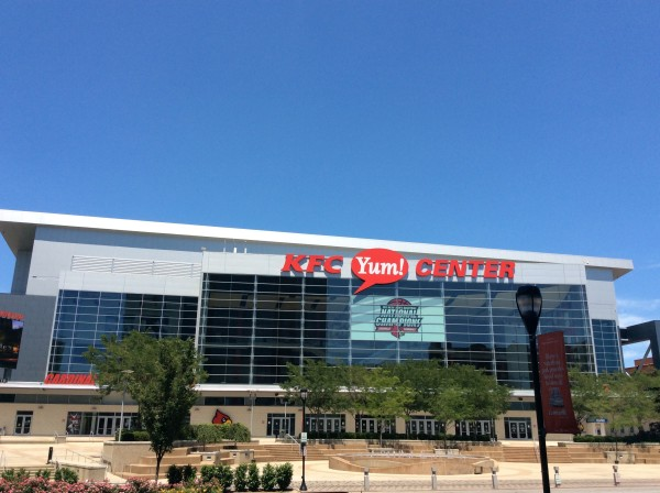 """KFC Yum! Center in downtown Louisville"""